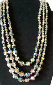 Vintage Swarovski Vitrail Faceted Necklace